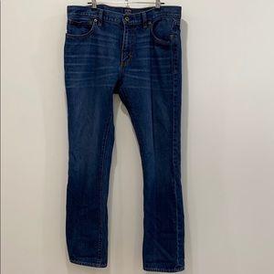 J. Crew the driggs fit denim blue jeans